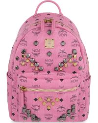 MCM - Pink Stark Small Backpack - Lyst