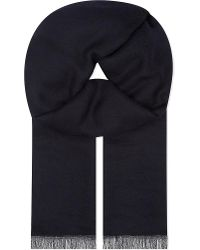 Brunello Cucinelli | Blue Cashmere Scarf for Men | Lyst