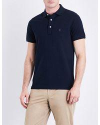 Tommy Hilfiger | Blue Core Slim-fit Cotton-piqué Polo Shirt for Men | Lyst