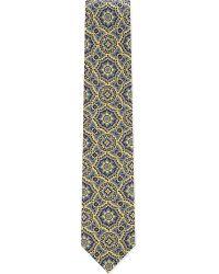 Brioni - Green Macro Medallion Silk Tie for Men - Lyst