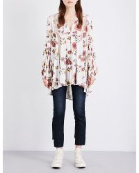 Free People | White Just The Two Of Us Crepe Tunic | Lyst