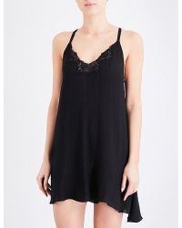 5c9410b9e3f5 Free People Kendall Trapeze Jersey Slip in Black - Lyst