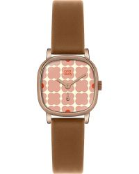 Orla Kiely - Brown Ok2056 Iris Leather And Stainless Steel Watch - Lyst