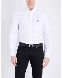 Ralph Lauren Purple Label | White Slim-fit Logo Cotton Shirt for Men | Lyst