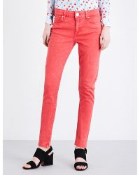 Sandro | Red Cover Skinny Mid-rise Jeans | Lyst