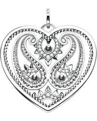Thomas Sabo | Metallic Oriental Heart Sterling Silver Pendant | Lyst
