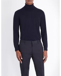 Paul Smith | Blue Turtleneck Wool Jumper for Men | Lyst