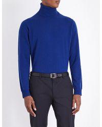 Paul Smith - Blue Turtleneck Cashmere Jumper for Men - Lyst