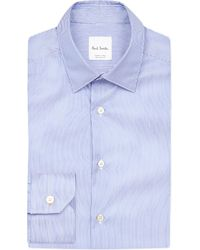 Paul Smith - Blue Regular-fit Cotton Shirt for Men - Lyst