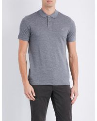 PS by Paul Smith | Gray Slim-fit Cotton-piqué Polo Shirt for Men | Lyst