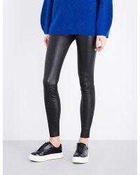 By Malene Birger | Black Elenasoo High-rise Stretch-leather Leggings | Lyst