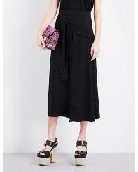 Proenza Schouler | Black Ruffle Crepe Skirt | Lyst