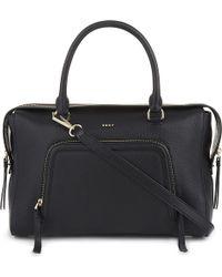 DKNY   Black Chelsea Vintage Grained Leather Satchel   Lyst