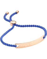 Monica Vinader - Blue Havana 18ct Rose Gold-plated Friendship Bracelet - Lyst