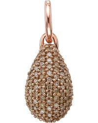 Monica Vinader | Brown Stellar 18ct Rose Gold-plated Diamond Pendant | Lyst