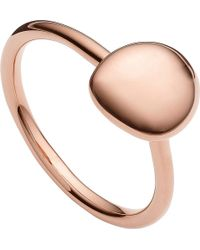 Monica Vinader | Metallic Nura 18ct Rose Gold Vermeil Stacking Ring | Lyst