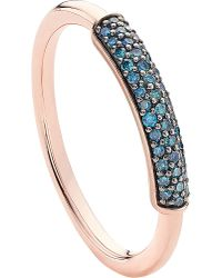 Monica Vinader - Multicolor Stellar 18ct Rose Gold-plated Vermeil And Blue Diamond Ring - Lyst