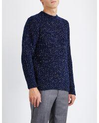 Sandro - Blue Boredom Knitted Jumper for Men - Lyst