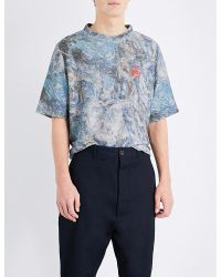 Vivienne Westwood - Blue Abstract Camouflage-print Terry T-shirt for Men - Lyst