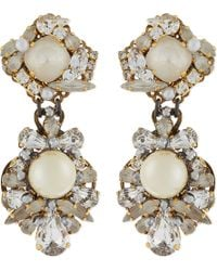 Erickson Beamon - Metallic Swan Lake Pearl Stud Earrings - Lyst