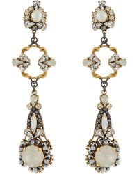 Erickson Beamon | Metallic Swan Lake Swarovski Earrings | Lyst