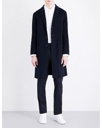 Joseph | Blue Triple-breasted Wool And Cashmere-blend Coat for Men | Lyst