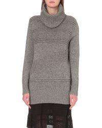 Diane von Furstenberg | Gray Talassa Wool And Cashmere-blend Turtleneck Jumper | Lyst
