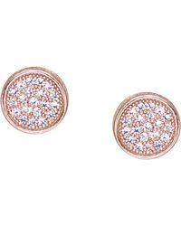 Carat* - Pink Rose Gold-vermeil And Pavé Stud Earrings - Lyst