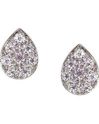 Carat* | Metallic Tear Drop Sterling Silver Stud Earrings | Lyst