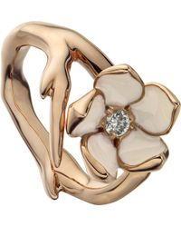 Shaun Leane | Metallic Sterling Silver Rose-gold Vermeil And Diamond Ring | Lyst