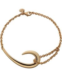 Shaun Leane - Metallic Sterling Silver And Rose Gold-plate Hook Bracelet - Lyst