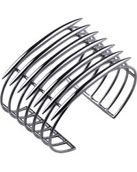 Shaun Leane - Multicolor Grid Sterling Silver Quill Cuff - Lyst