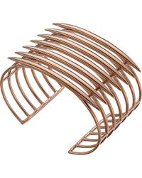 Shaun Leane | Metallic Rose Gold Vermeil Quill Cuff | Lyst