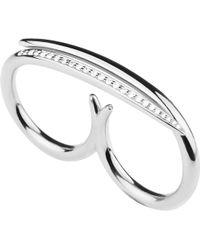 Shaun Leane | Metallic White Feather Silver And Diamond Ring | Lyst