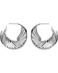 Shaun Leane | Metallic White Feather Sterling Silver Earrings | Lyst