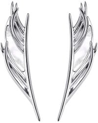 Shaun Leane | Metallic White Feather Silver And Mother-of-pearl Earrings | Lyst