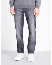 7 For All Mankind | Gray Huntley Slim-fit Stretch-denim Jeans for Men | Lyst