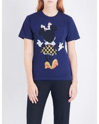 e09de5d2c18 Lyst - Victoria Beckham Minnie Mouse Cotton-jersey T-shirt in Blue