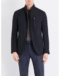 Armani | Black Padded Shell Jacket for Men | Lyst