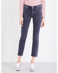 M.i.h Jeans   Blue Daily Slim-fit High-rise Jeans   Lyst