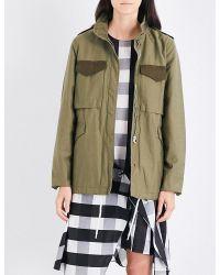 Rag & Bone - Green Ash Cotton-twill Field Jacket - Lyst