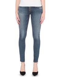 Hudson Jeans Blue Krista Super-skinny Mid-rise Jeans