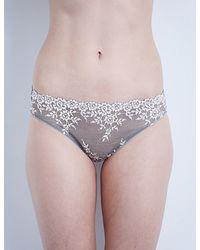 Wacoal | Pink Embrace Lace Mesh Bikini Briefs | Lyst