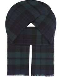 Johnstons | Black Heritage Check Merino Wool Scarf for Men | Lyst