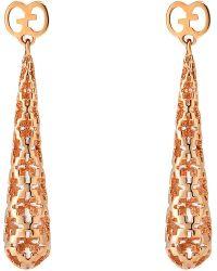 Gucci | Metallic Diamantissima 18ct Rose Gold Earrings | Lyst