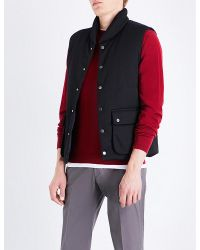 Armani - Red Sleeveless Quilted Gilet for Men - Lyst