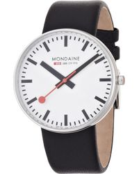 Mondaine - Black A6603032811sbb Evo Giant White Watch - Lyst