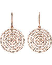 Astley Clarke - Metallic Icon Aura 14ct Rose Gold And Diamond Earrings - Lyst