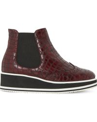Dune Black | Multicolor Patrol Crocodile-embossed Leather Chelsea | Lyst