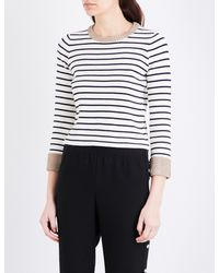 Maje - Multicolor Martina Striped Knitted Jumper - Lyst